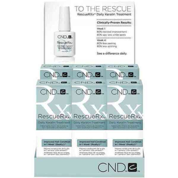 CND RescueRXx Daily Keratin Oil Treatment 6 Count Display (769776)