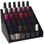 Premium Black Polish Rack 35 Bottle Capacity (801900)