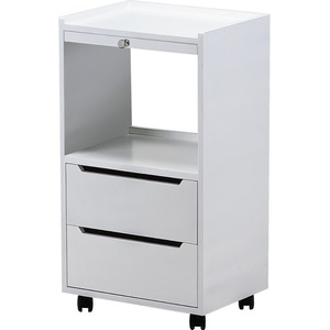 Alpha 2 Trolley Available in White Black Mahogany or Almond