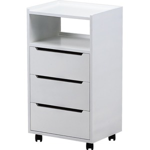 Alpha 3 Trolley Available in White Black Mahogany or Almond