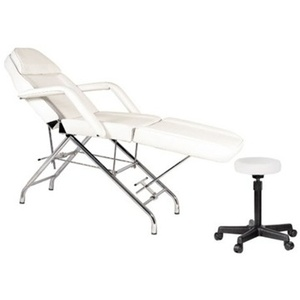 Encore White Facial Beauty Chair with Face Rest Towel Bar & Stool (FBC-A1)