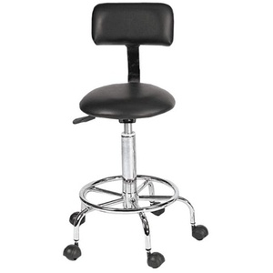 Encore Black Technician Stool with Back Support (FBC-DS)