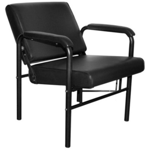 Encore Black Reclining Shampoo Chair - Adjustable Back (H-2086)