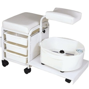 Encore Portable Deluxe Pedicure Spa Technician Stool with Bowl (H-2305)
