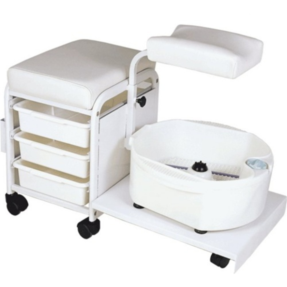 Encore Portable Deluxe Pedicure Spa Technician Stool with Bowl (H-2305)  sc 1 st  Pure Spa Direct & Encore Portable Deluxe Pedicure Spa Technician Stool with Bowl (H ... islam-shia.org