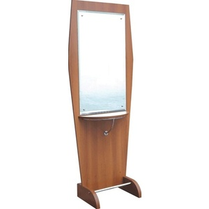 Encore Single Side Wood Styling Station with Mirrors (H-2505S)