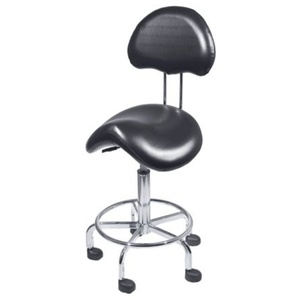 Encore Saddle Stool with Back Support Black (H-2640BK)