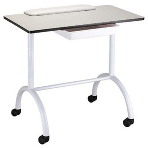Encore Portable Manicure Table Station Roll About with Tray (H-2702)