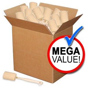 Loofah Bath Brush with Wood Handle Mega Pack of 100 (SA-B5 100)