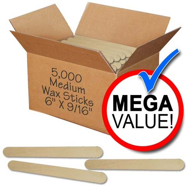 "Waxing Applicators - Medium - 6"" X 916"" - 5000 Mega Pack Case (WSLW 5)"