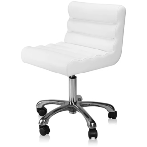 Encore Trendy Manicure Technician Stool White (FBC-7MW )