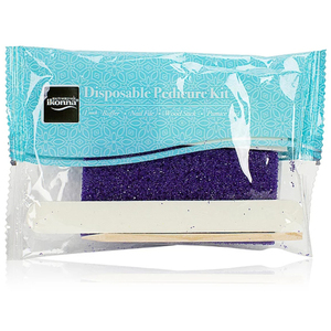 Ikonna Disposable Deluxe Pedicure Kits - Purple Pumice Pad 4 Pieces per Kit Case of 600 Kits (DMP4D x 3)
