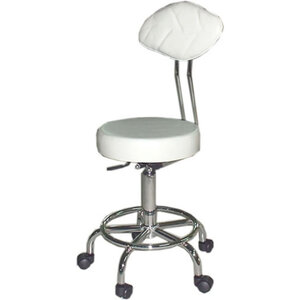 Stool with Back & Footring (SM71)