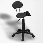 Deluxe Saddle Stool with Back (SM3006)