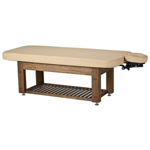 Napa La Mer™ Spa and Salon Table with Teak Base Wet Room Table ()