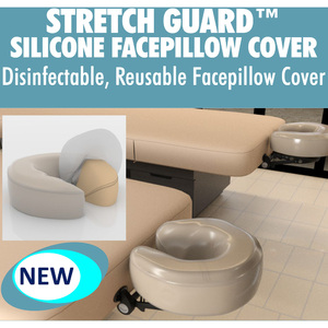 Stretch Guard™ Silicone Facepillow Cover - Disinfectable Washable Reusable Durable and Safe