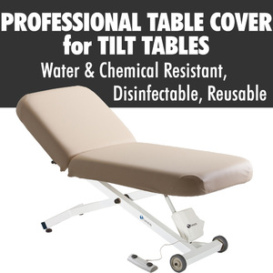 "Sanitary Protective Professional™ 2 Piece Tilt Table Cover - Choose 30"" or 32"" Width - Disinfectable Reusable Water and Chemical Resistant"