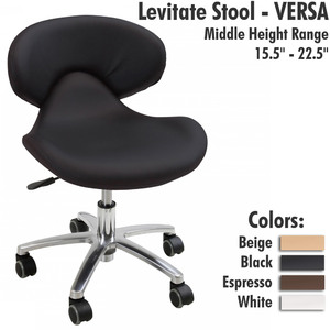 "Levitate Stool - VERSA Middle Height Range 15.5"" - 22.5"""