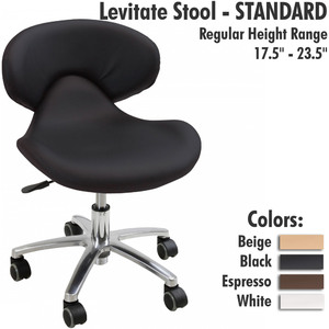 "Levitate Stool - STANDARD Regular Height Range 17.5"" - 23.5"""