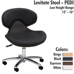 "Levitate Stool - PEDI Low Height Range 13"" - 16"""