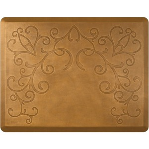 4'x5' Estates Collection Salon Mat without Chair Depression in Bella Copper Leaf (SS4050BN75BCL)
