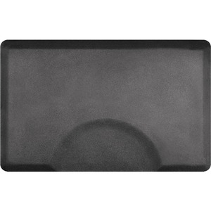 3'x4.5' Granite Collection Rectangle Salon Mat with Chair Depression in Granite Steel (SS3045R75GS)