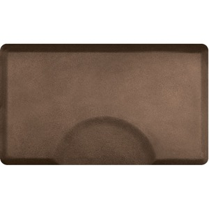 3'x5' Granite Collection Rectangle Salon Mat with Chair Depression in Granite Copper (SS3050R75GC)