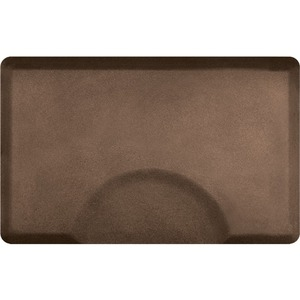 3'x4.5' Granite Collection Rectangle Salon Mat with Chair Depression in Granite Copper (SS3045R75GC)