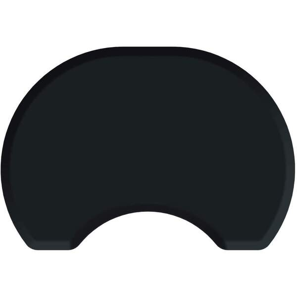 2.5'x3.5' Elite Series Round Salon Mat with Chair Depression in Black (SS2535C75)