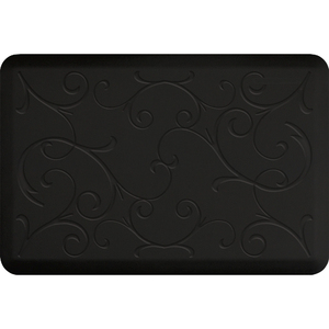 "Romanesque Impression Collection - Anti-Fatigue Mat Black 3' x 2' x 34"" (IM32ROBLK)"