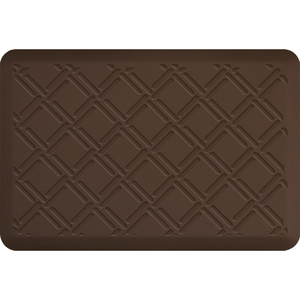 "Lattice Impression Collection - Anti-Fatigue Mat Brown 3' x 2' x 34"" (IM32LABRN)"