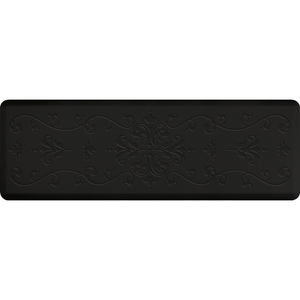 "Classical Impression Collection - Anti-Fatigue Mat Black 6' x 2' x 34"" (IM62CLBLK)"