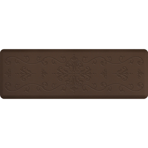 "Classical Impression Collection - Anti-Fatigue Mat Brown 6' x 2' x 34"" (IM62CLBRN)"