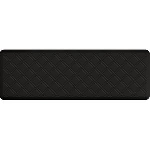 "Lattice Impression Collection - Anti-Fatigue Mat Black 6' x 2' x 34"" (IM62LABLK)"