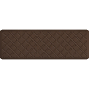"Lattice Impression Collection - Anti-Fatigue Mat Brown 6' x 2' x 34"" (IM62LABRN)"