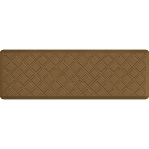"Lattice Impression Collection - Anti-Fatigue Mat Tan 6' x 2' x 34"" (IM62LATAN)"