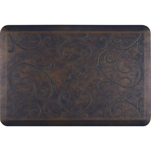 "Romanesque Prestige Collection - Anti-Fatigue Mat Rustic Steel 3' x 2' x 34"" (PR32ROHAR)"