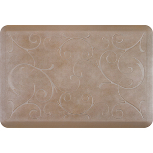 "Romanesque Prestige Collection - Anti-Fatigue Mat Natural Stone 3' x 2' x 34"" (PR32ROSAN)"