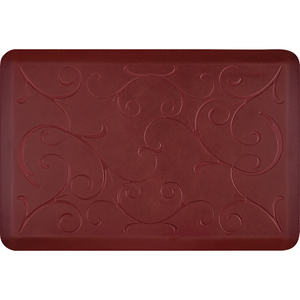 "Romanesque Prestige Collection - Anti-Fatigue Mat Maroon Aura 3' x 2' x 34"" (PR32ROCOR)"
