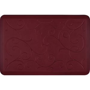 "Romanesque Prestige Collection - Anti-Fatigue Mat Deep Currant 3' x 2' x 34"" (PR32ROREDS)"