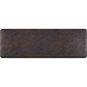 "Romanesque Prestige Collection - Anti-Fatigue Mat Rustic Steel 6' x 2' x 34"" (PR62ROHAR)"