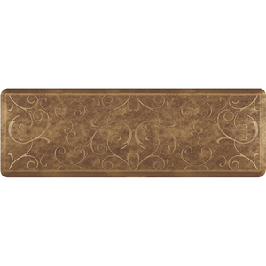 "Romanesque Prestige Collection - Anti-Fatigue Mat Toasted Almond 6' x 2' x 34"" (PR62ROROSG)"