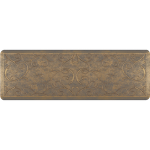 "Romanesque Prestige Collection - Anti-Fatigue Mat Timeless Gold 6' x 2' x 34"" (PR62ROANTG)"