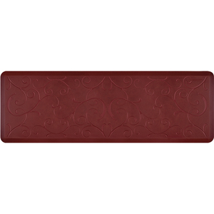 "Romanesque Prestige Collection - Anti-Fatigue Mat Maroon Aura 6' x 2' x 34"" (PR62ROCOR)"