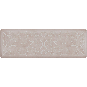 "Romanesque Prestige Collection - Anti-Fatigue Mat Antique White 6' x 2' x 34"" (PR62ROSAND)"