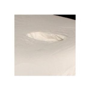 Specialty Fitted Sheet - White Crescent Face Hole (FIT-CRFH)