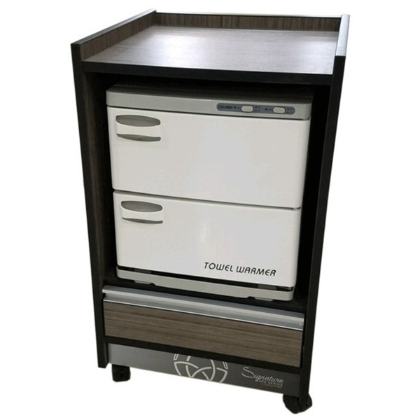 T100 Signature Spa Series Trolley Cart - Open Storage for Towel Warmer + 1 Drawer (T100)