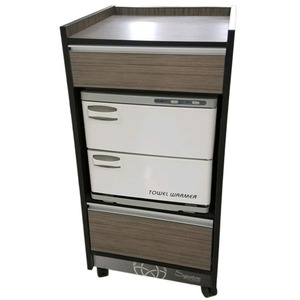 T200 Signature Spa Series Trolley Cart - Open Storage for Towel Warmer + 2 Drawers (T200)
