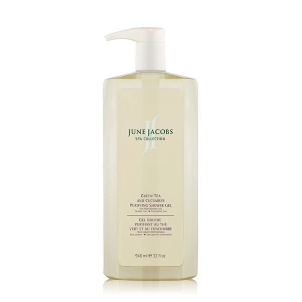 Green Tea And Cucumber Purifying Shower Gel - 946 mL / 32 fl. oz. by June Jacobs Spa Collection