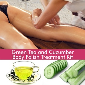 June Jacobs Green Tea and Cucumber Body Polish Treatment Kit - 60 Minute Treatment